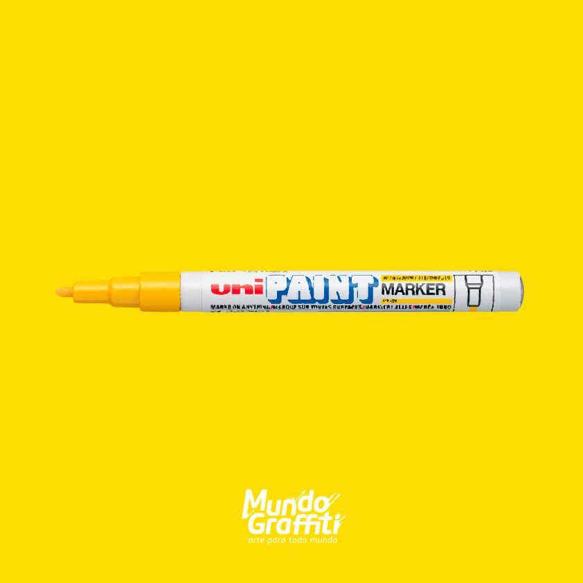 Marcador Permanente Uni Paint Marker PX21 Amarelo - Mundo Graffiti