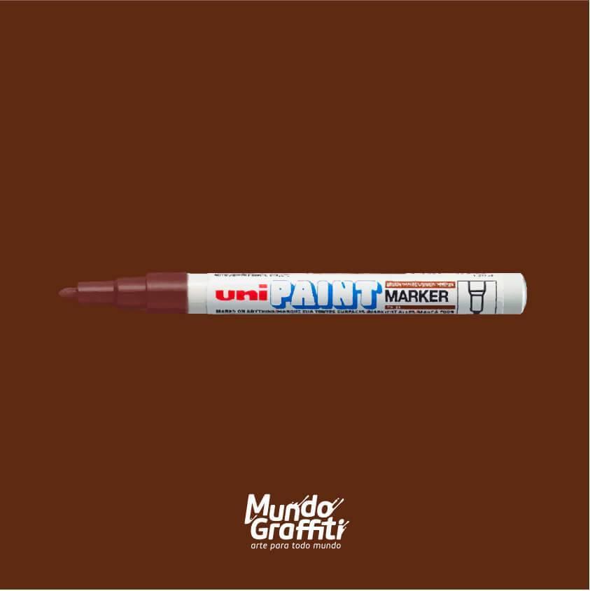 Marcador Permanente Uni Paint Marker PX21 Marrom - Mundo Graffiti