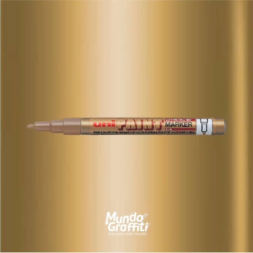 Marcador Permanente Uni Paint Marker PX21 Ouro - Mundo Graffiti