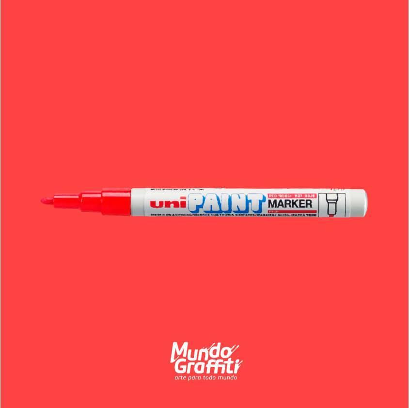 Marcador Permanente Uni Paint Marker PX21 Vermelho - Mundo Graffiti