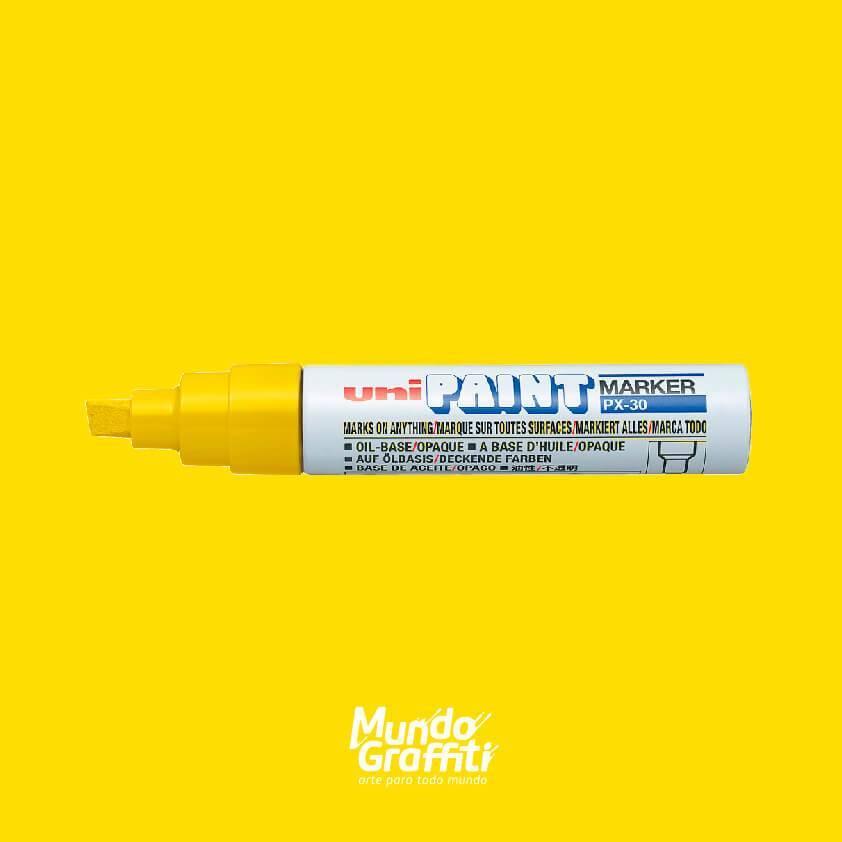Marcador permanente Uni Paint Marker PX30 amarelo - Mundo Graffiti