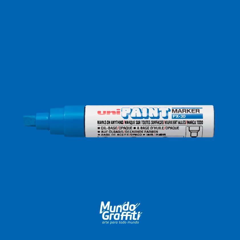 Marcador Permanente Uni Paint Marker PX30 Azul - Mundo Graffiti