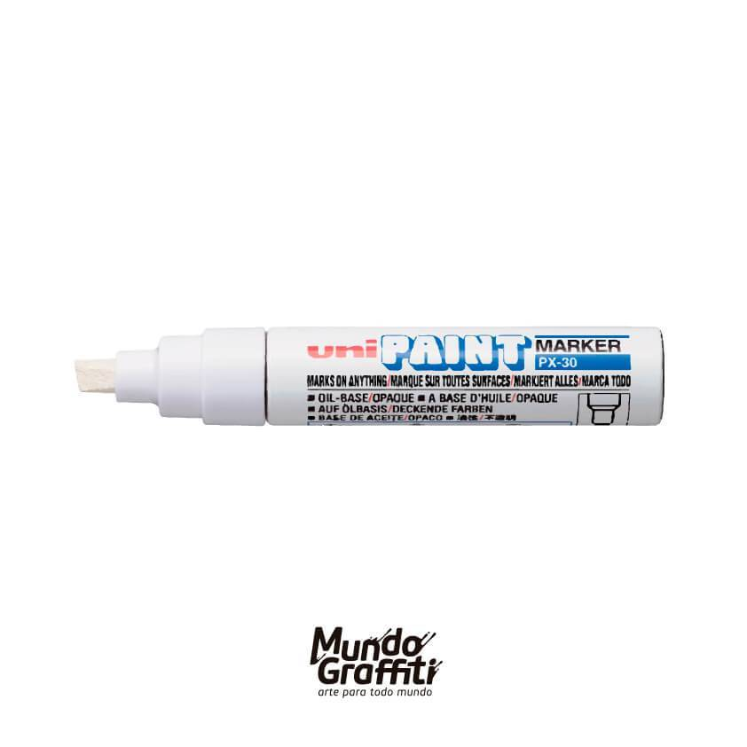 Marcador Permanente Uni Paint Marker PX30 Branco - Mundo Graffiti
