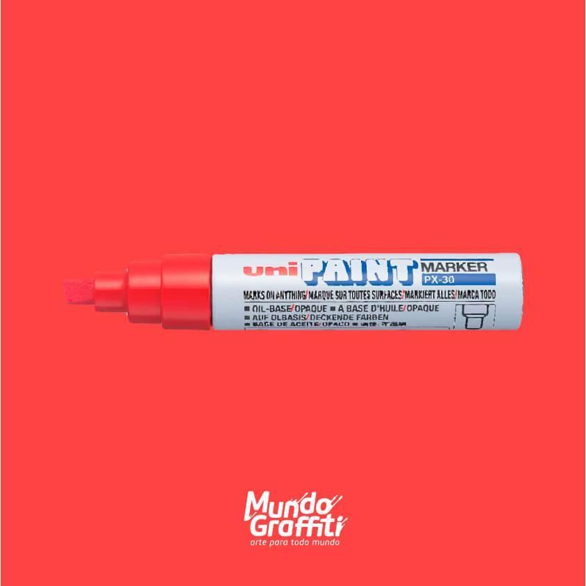 Marcador Permanente Uni Paint Marker PX30 Vermelho - Mundo Graffiti