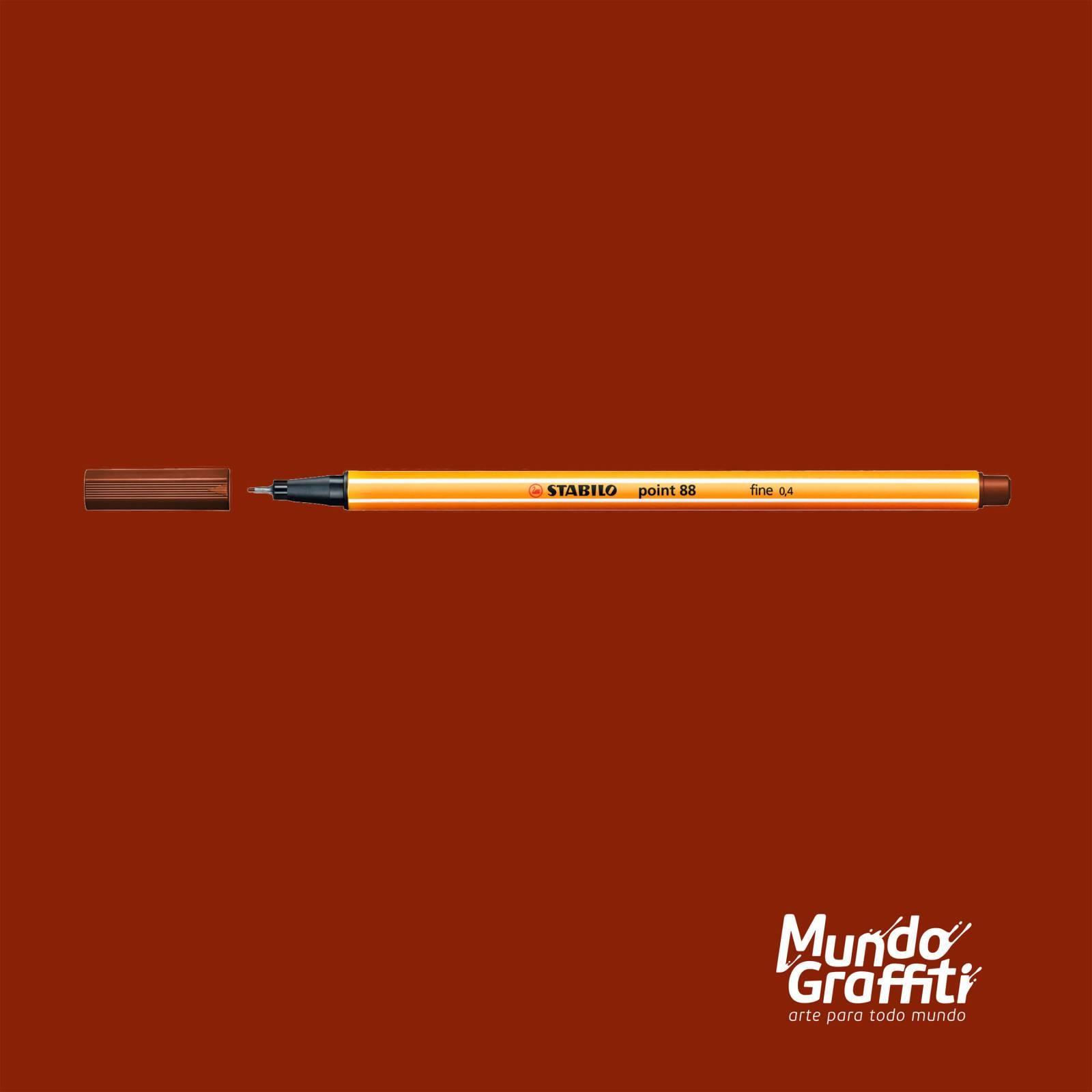 Caneta Stabilo Point 88/45 Marrom Escuro 0,4mm - Mundo Graffiti