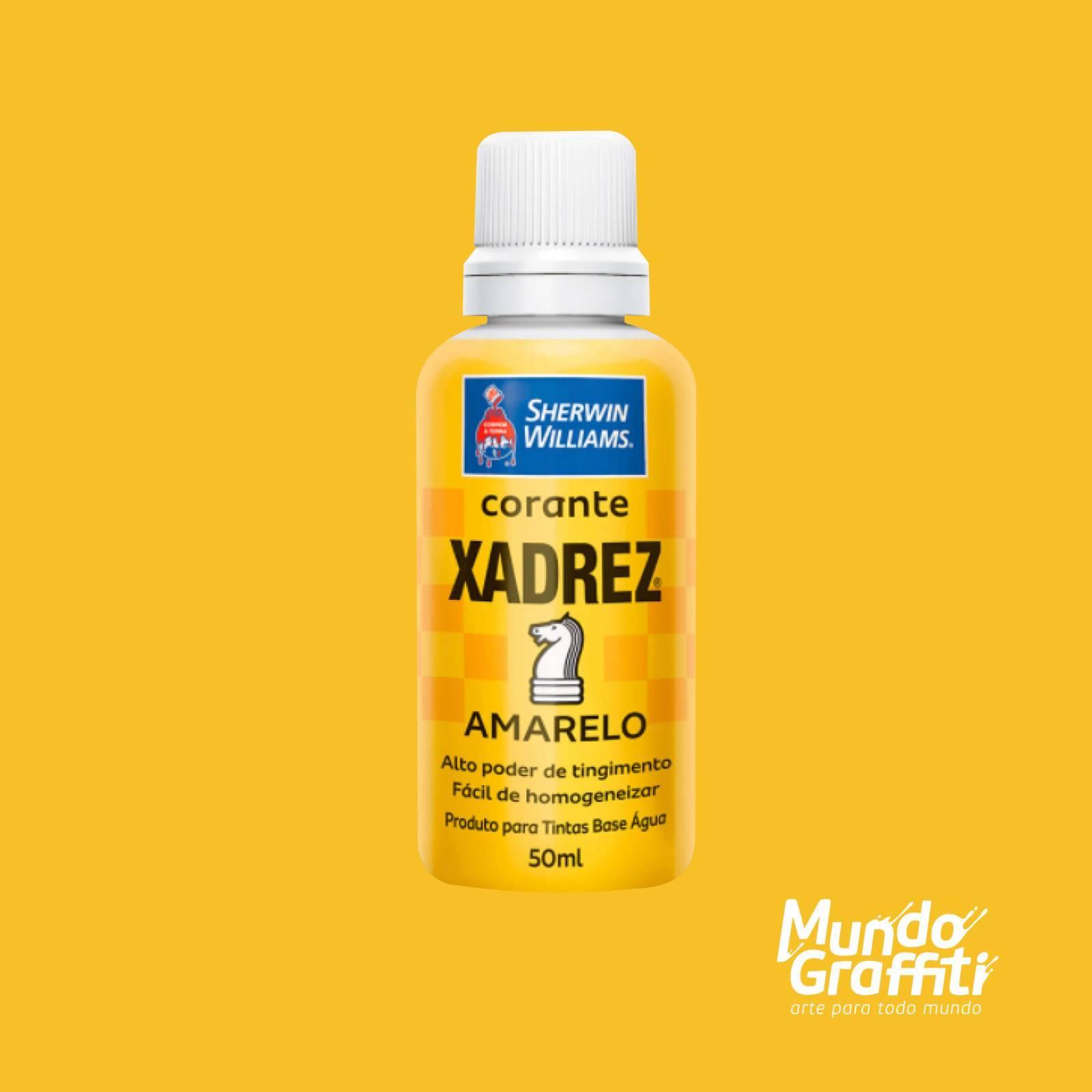 Corante Líquido Xadrez Amarelo 50ml - Mundo Graffiti