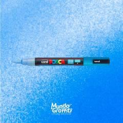 Caneta Posca 3M Azul Claro Glitter