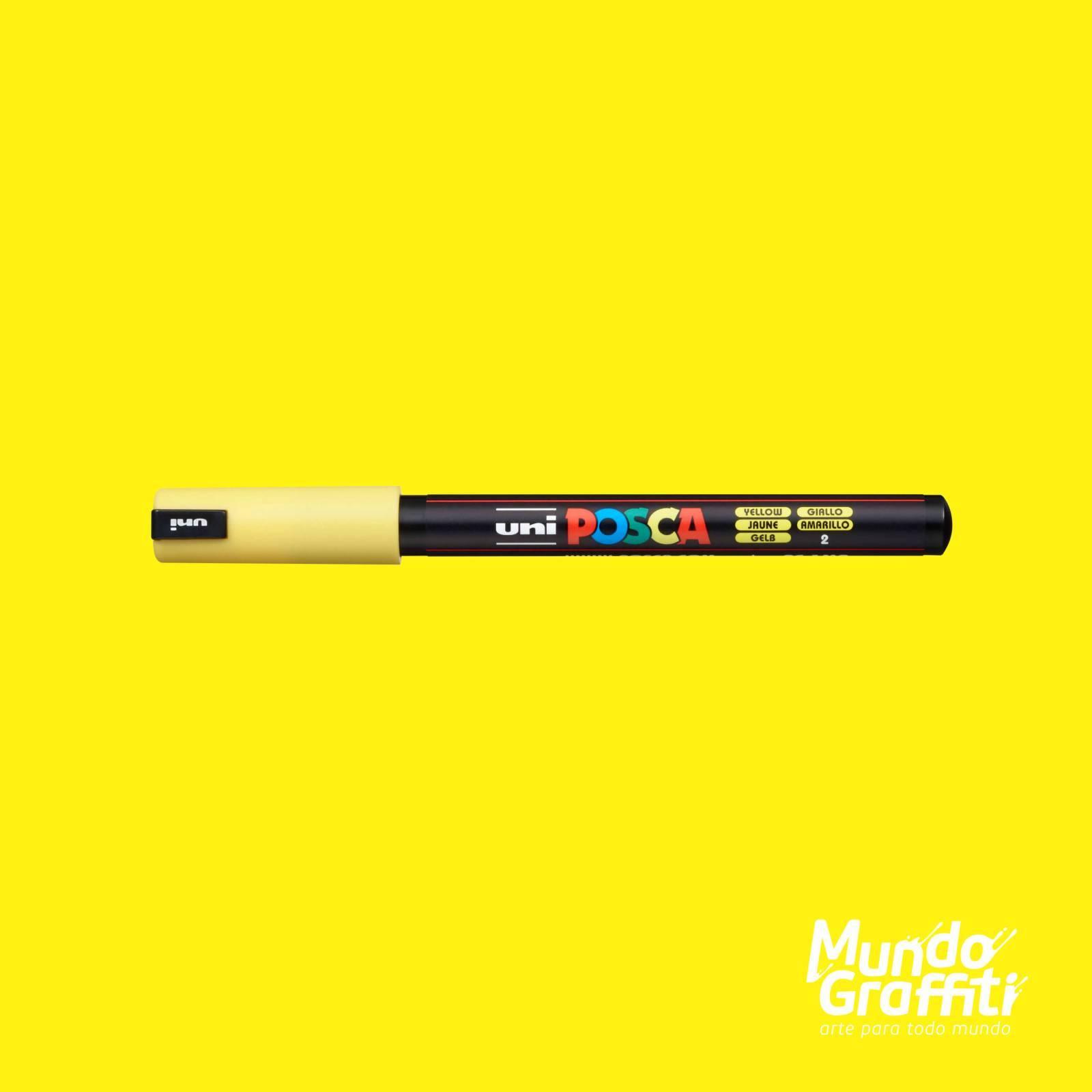 Caneta Posca 1MR Amarelo - Mundo Graffiti