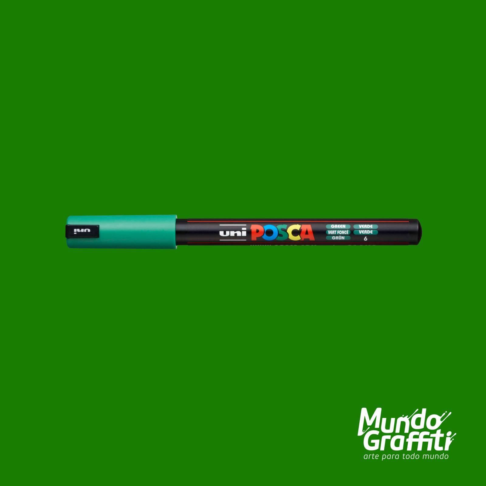 Caneta Posca 1MR Verde - Mundo Graffiti