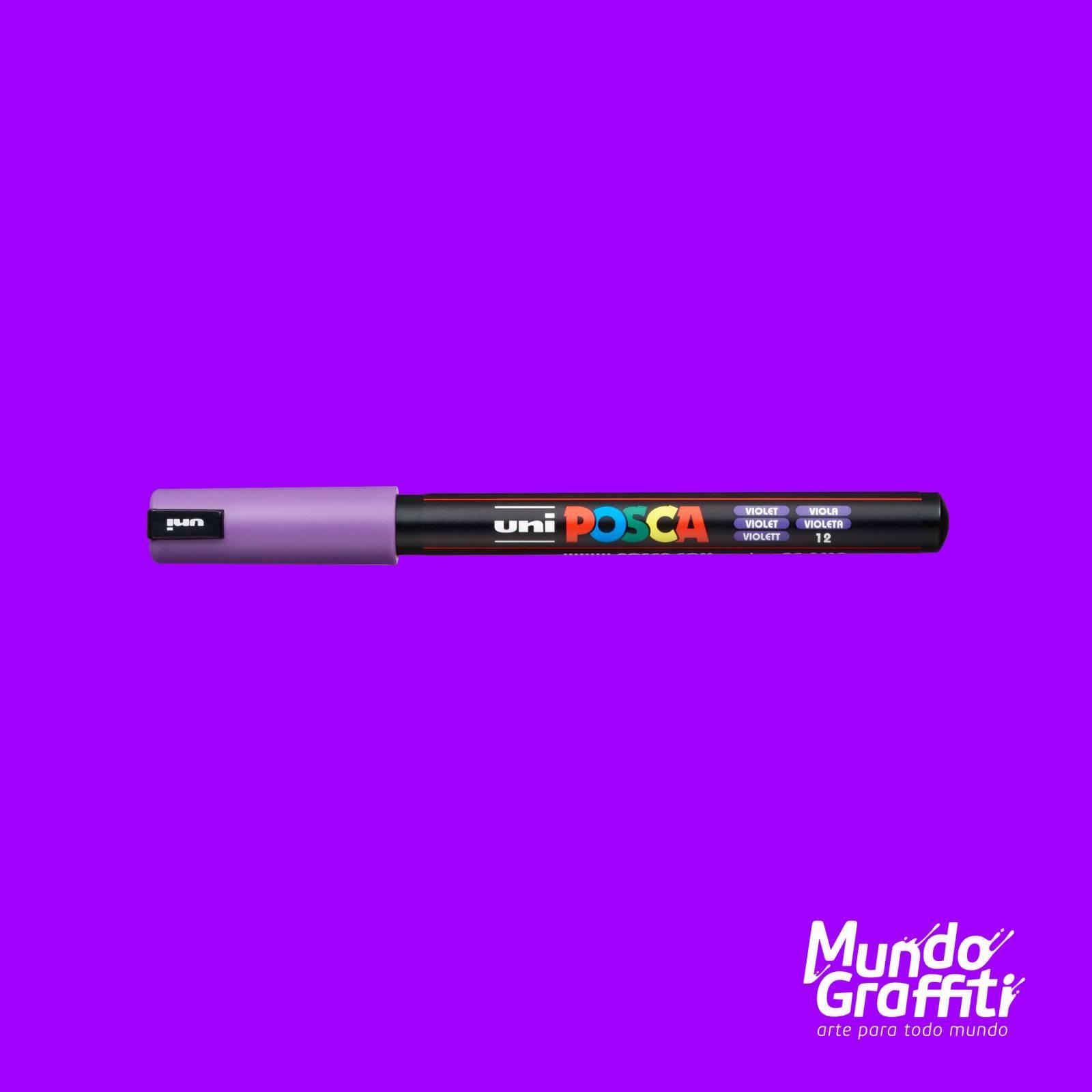 Caneta Posca 1MR Violeta - Mundo Graffiti
