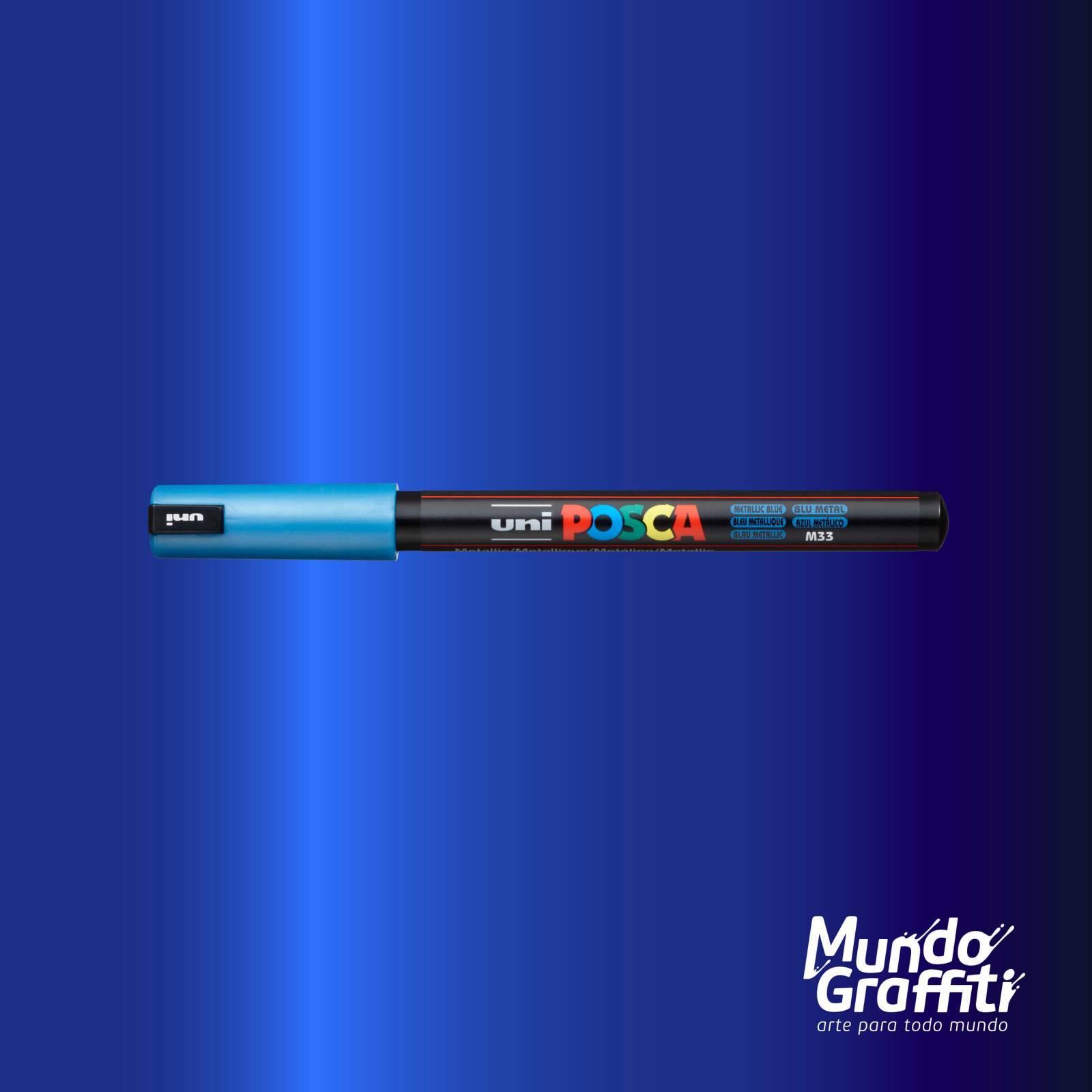 Caneta Posca 1MR Azul Metálico - Mundo Graffiti