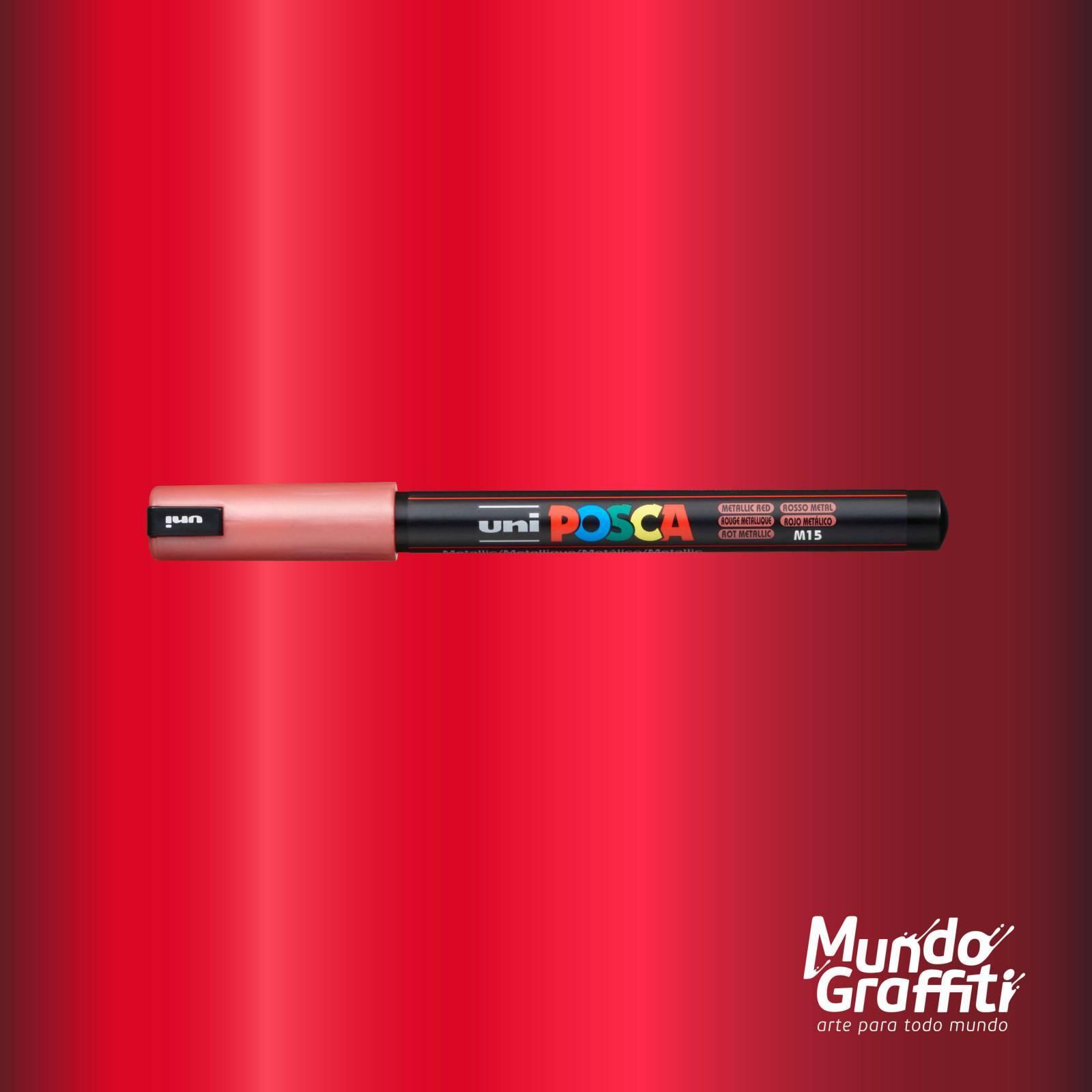Caneta Posca 1MR Vermelho Metálico - Mundo Graffiti