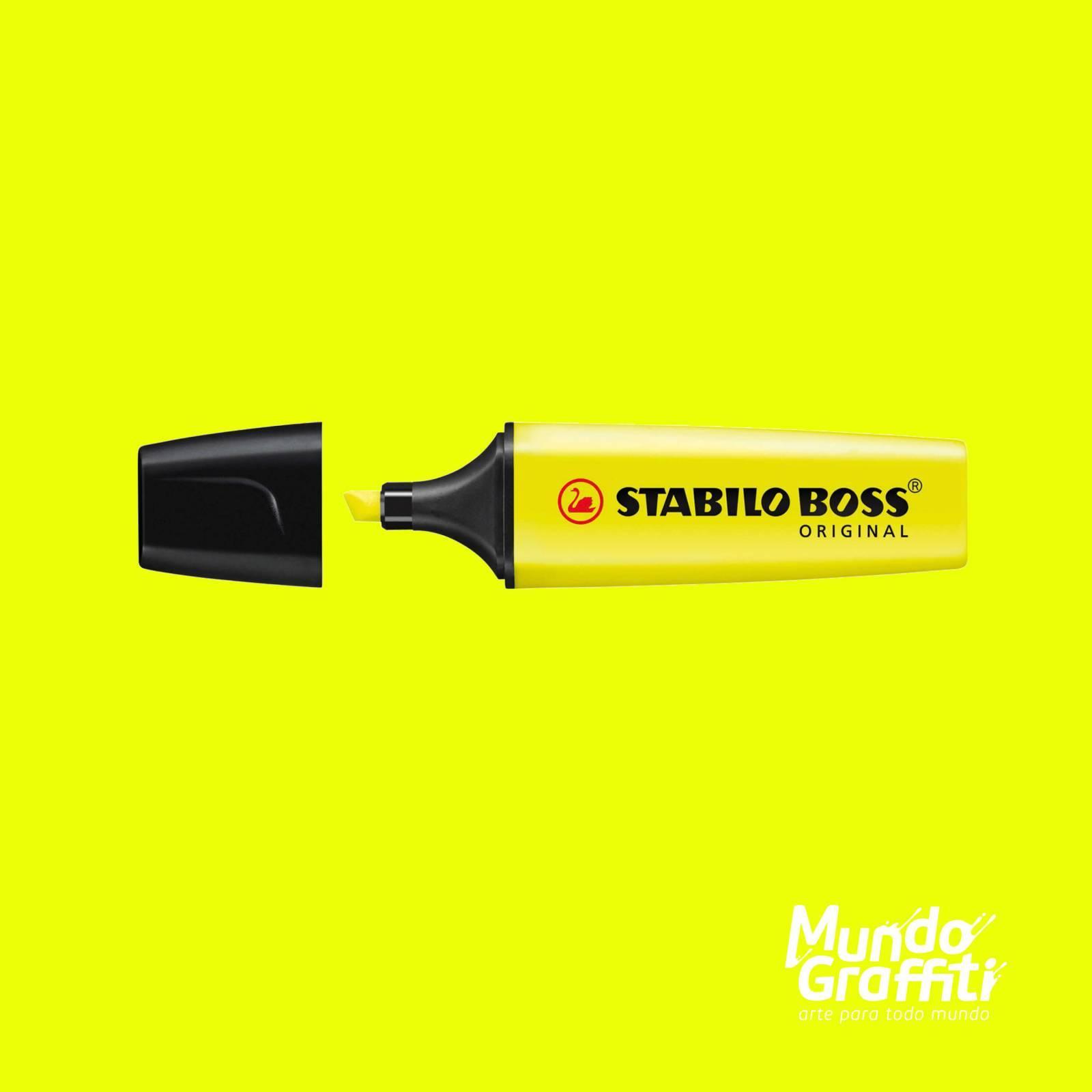 Marca Texto Stabilo Boss 70/24 Amarelo Fluorescente  - Mundo Graffiti