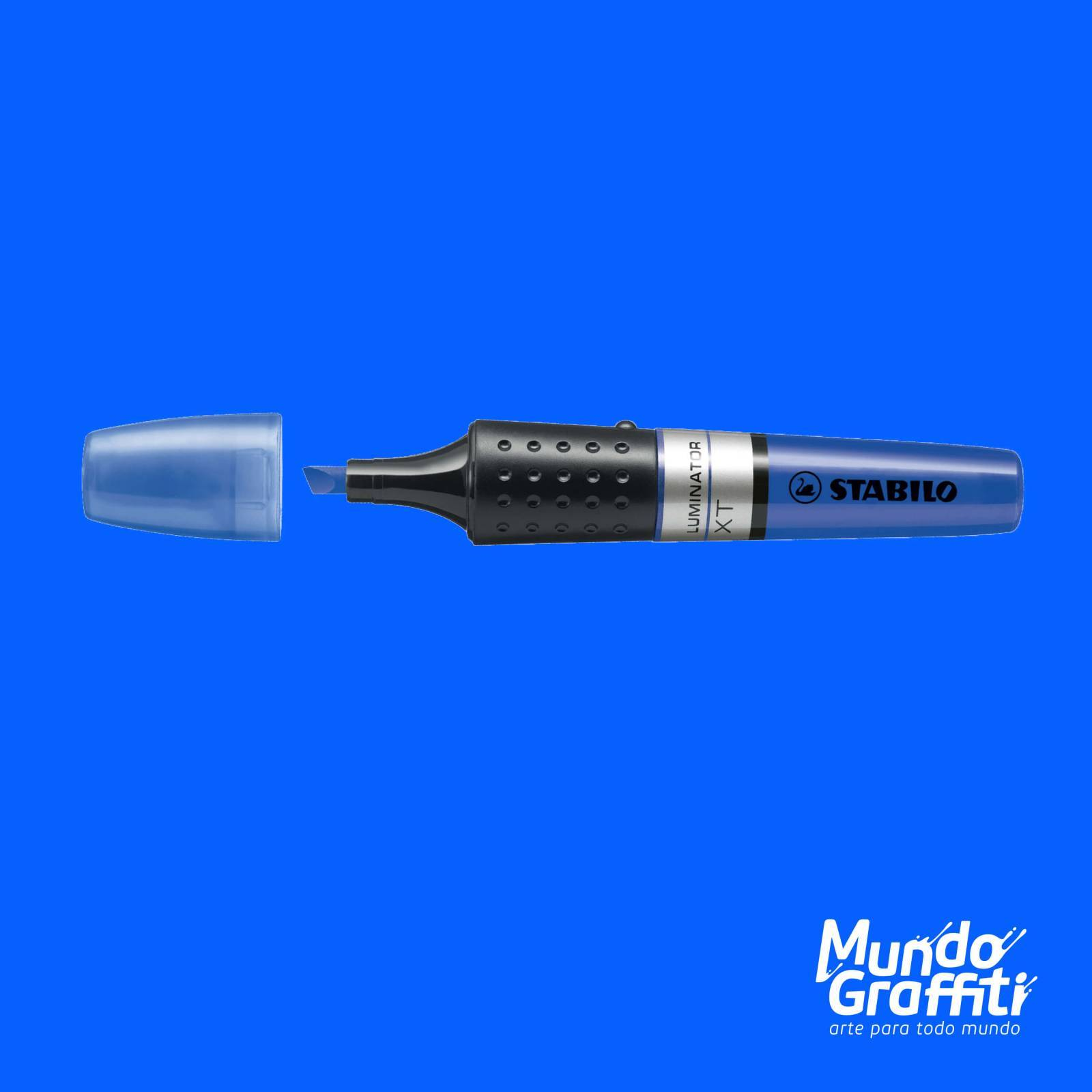 Marca Texto Stabilo Luminator 71/41 Azul Fluorescente - Mundo Graffiti
