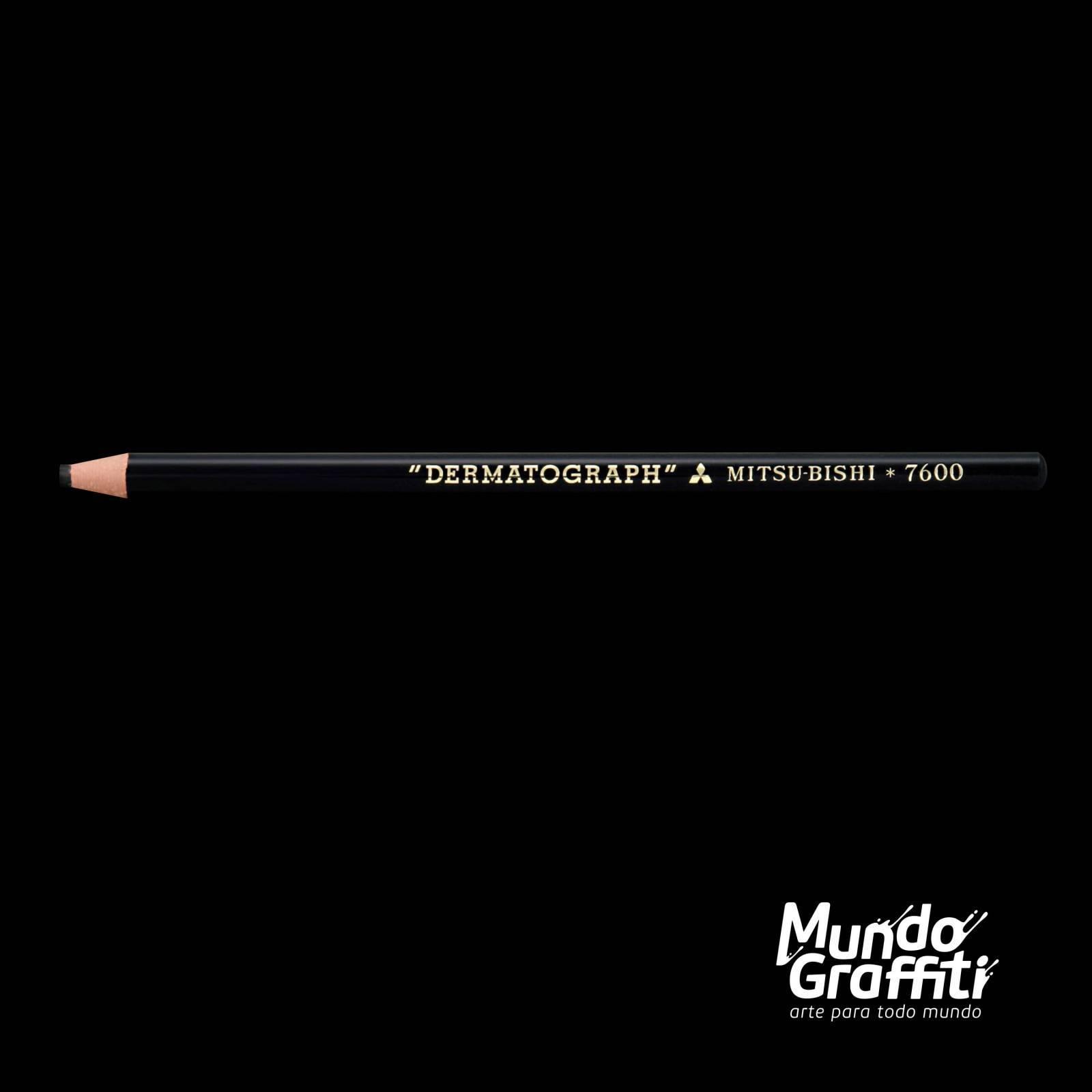 Lápis Dermatográfico Mitsubishi Preto - Mundo Graffiti