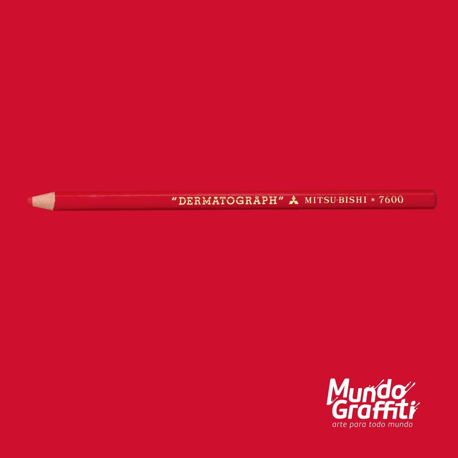 Lápis Dermatográfico Mitsubishi Vermelho - Mundo Graffiti