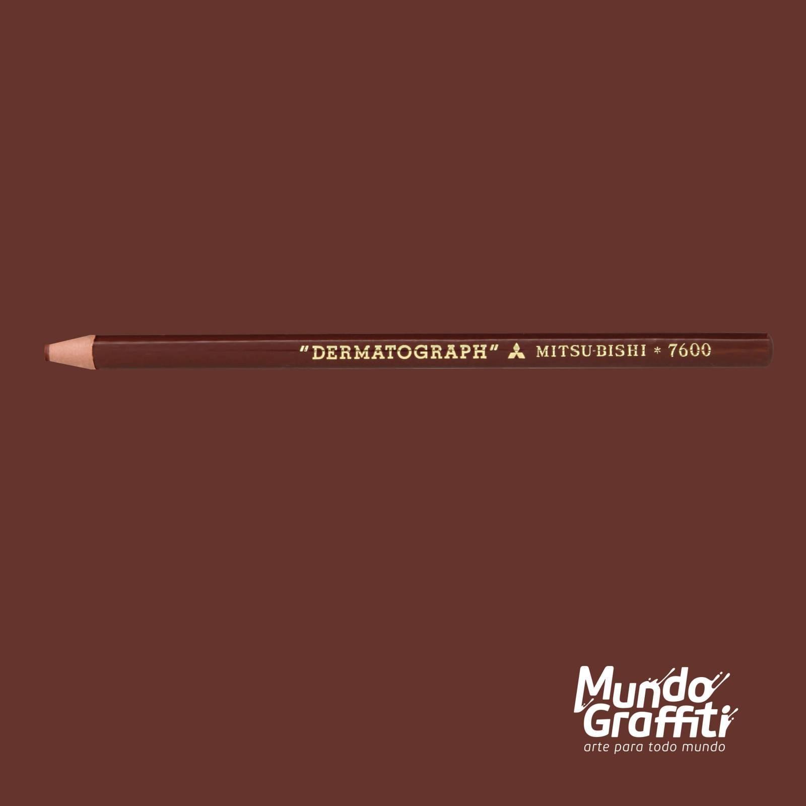 Lápis Dermatográfico Mitsubishi Marrom - Mundo Graffiti