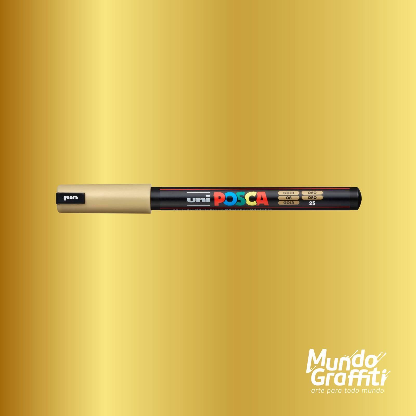 Caneta Posca 1MR Ouro - Mundo Graffiti