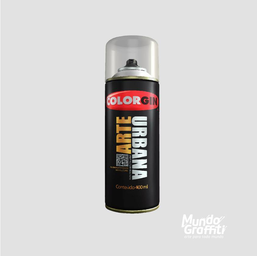 Tinta Spray Colorgin Arte Urbana 979 Cinza Neblina 400ml - Mundo Graffiti