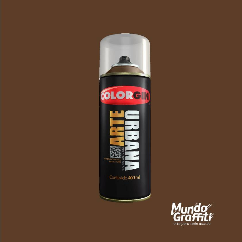 Tinta Spray Colorgin Arte Urbana 980 Chocolate 400ml - Mundo Graffiti