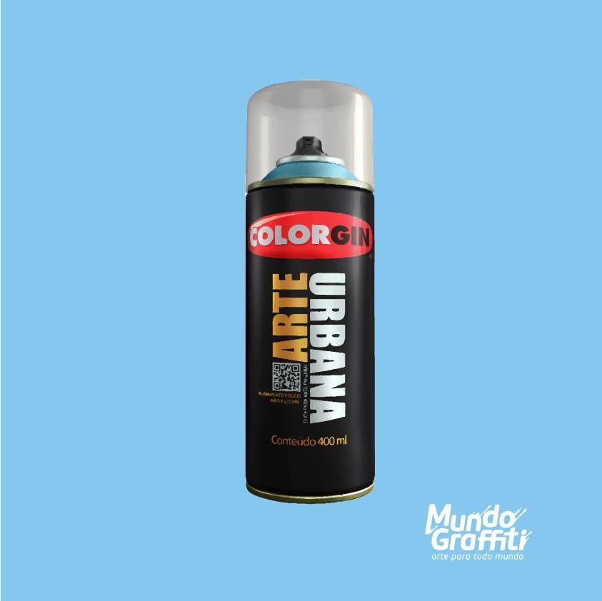 Tinta Spray Colorgin Arte Urbana 984 Azul Atlântico 400ml - Mundo Graffiti