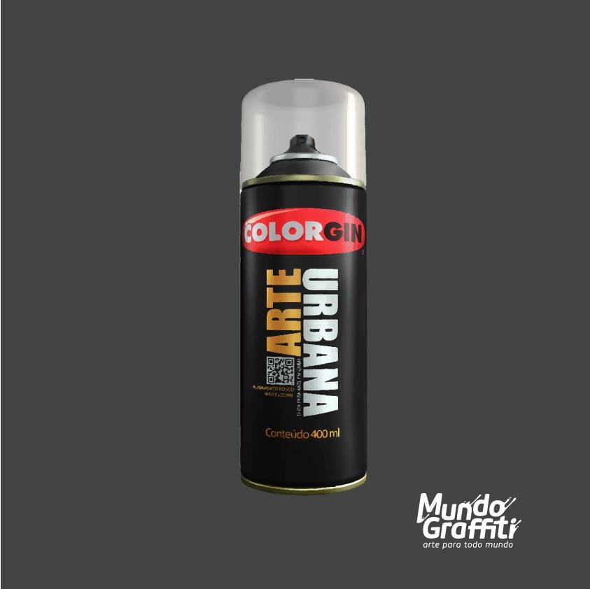 Tinta Spray Colorgin Arte Urbana 985 Cinza Chumbo 400ml - Mundo Graffiti
