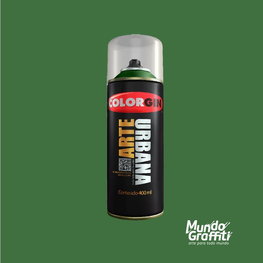 Tinta Spray Colorgin Arte Urbana 987 Verde Amazonas 400ml - Mundo Graffiti