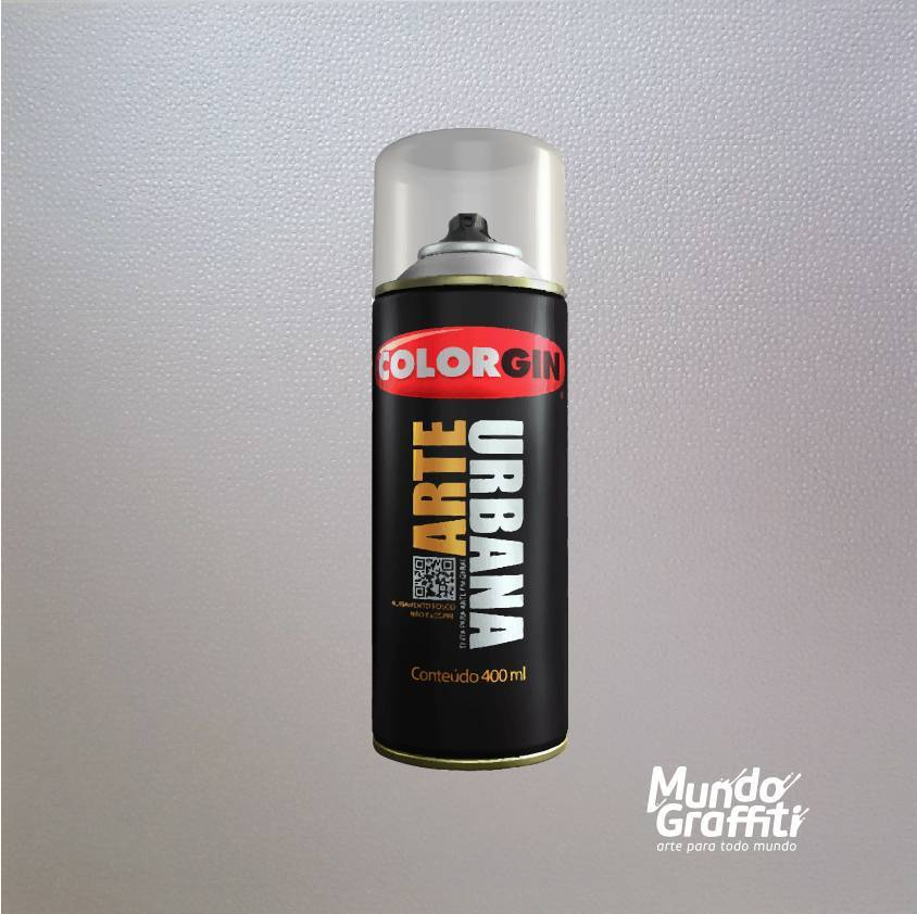 Tinta Spray Colorgin Arte Urbana 990 Prata 400ml - Mundo Graffiti