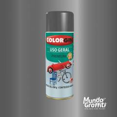 Tinta Spray Colorgin Uso Geral 57001 Grafite p/ Rodas 400ml