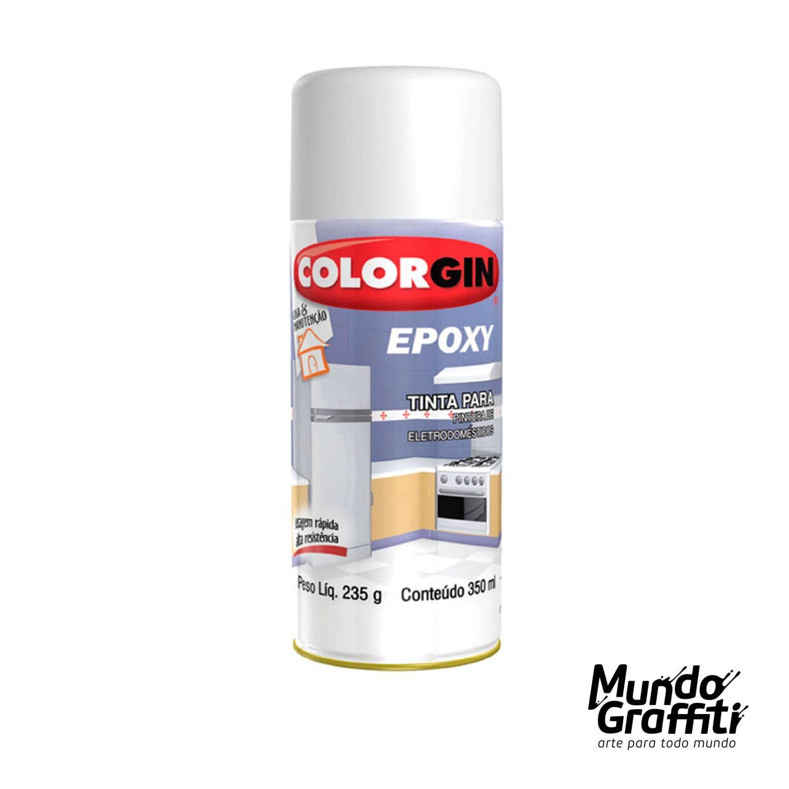 Tinta Spray Colorgin Epoxy 852 Branco Brilhante 350ml - Mundo Graffiti