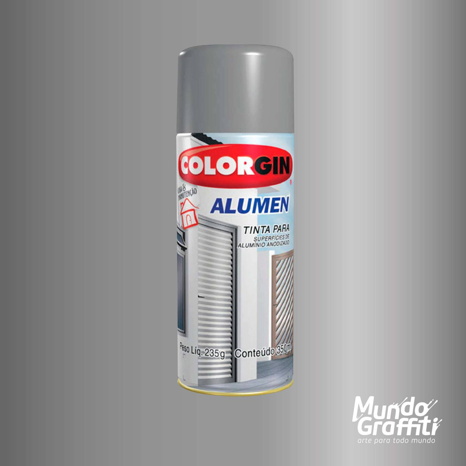 Tinta Spray Colorgin Alumen 770 Alumínio 350ml - Mundo Graffiti