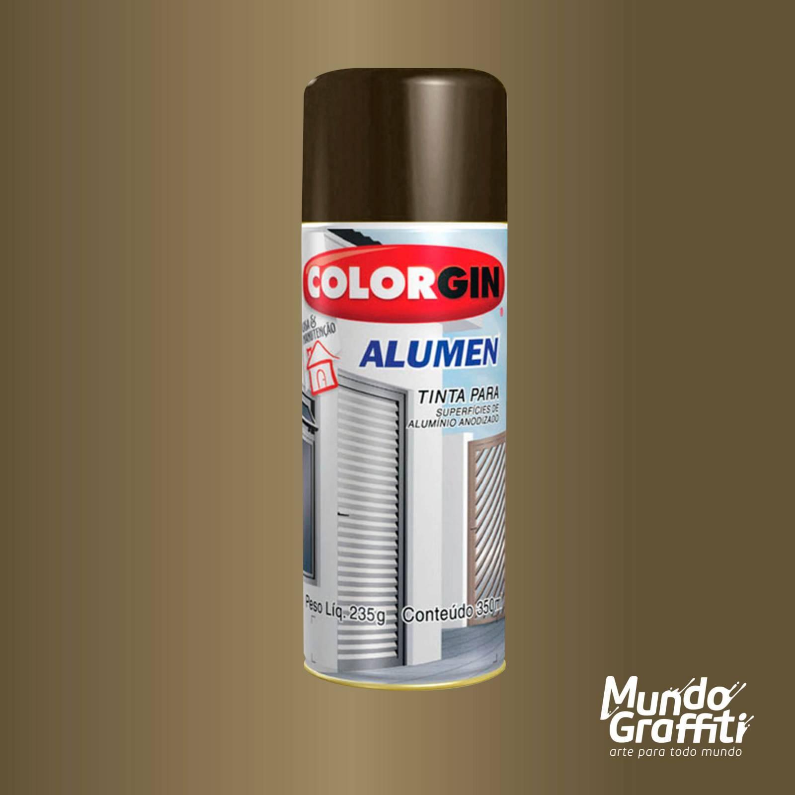 Tinta Spray Colorgin Alumen Bronze 1002 350ml - Mundo Graffiti