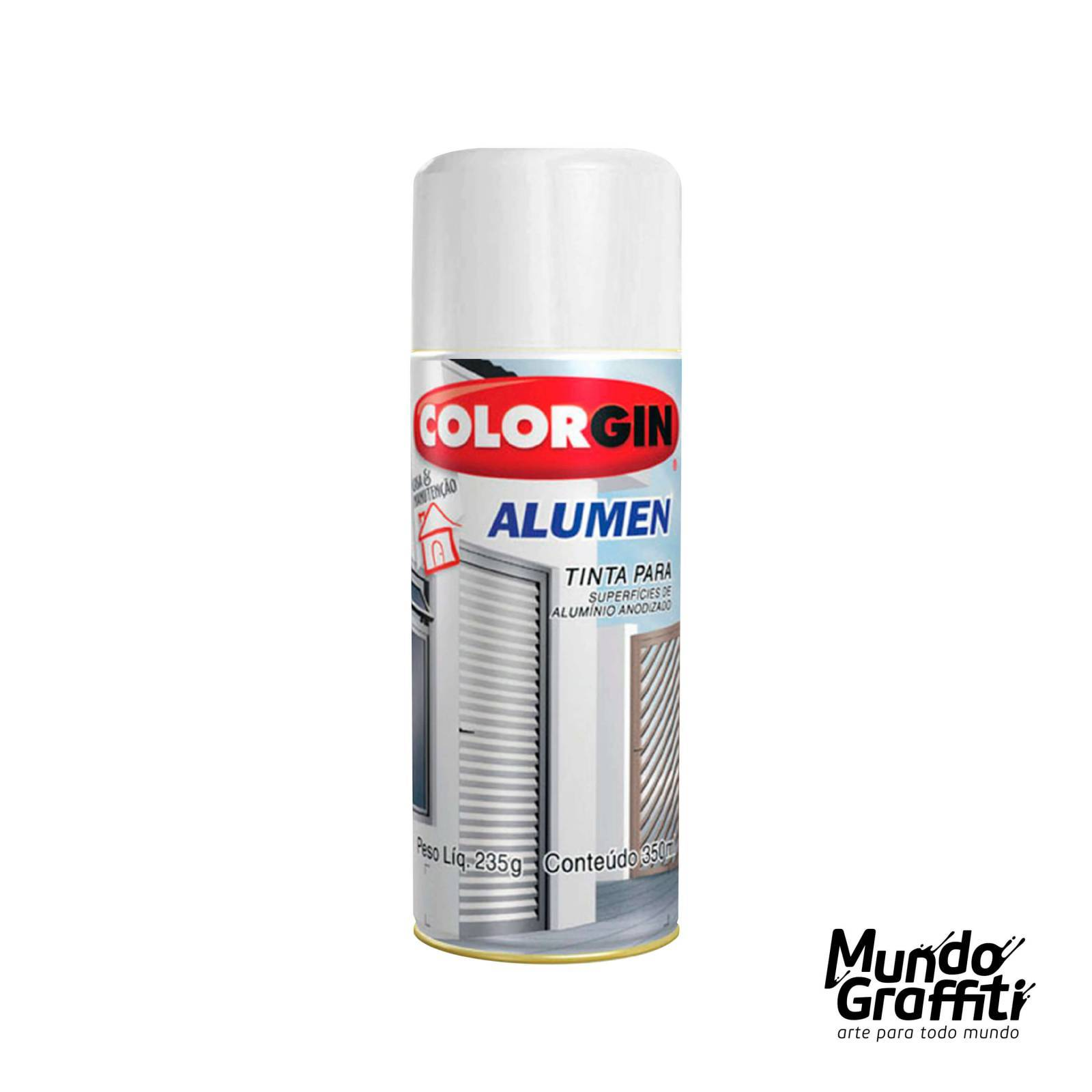 Tinta Spray Colorgin Alumen 7004 Branco 350ml - Mundo Graffiti