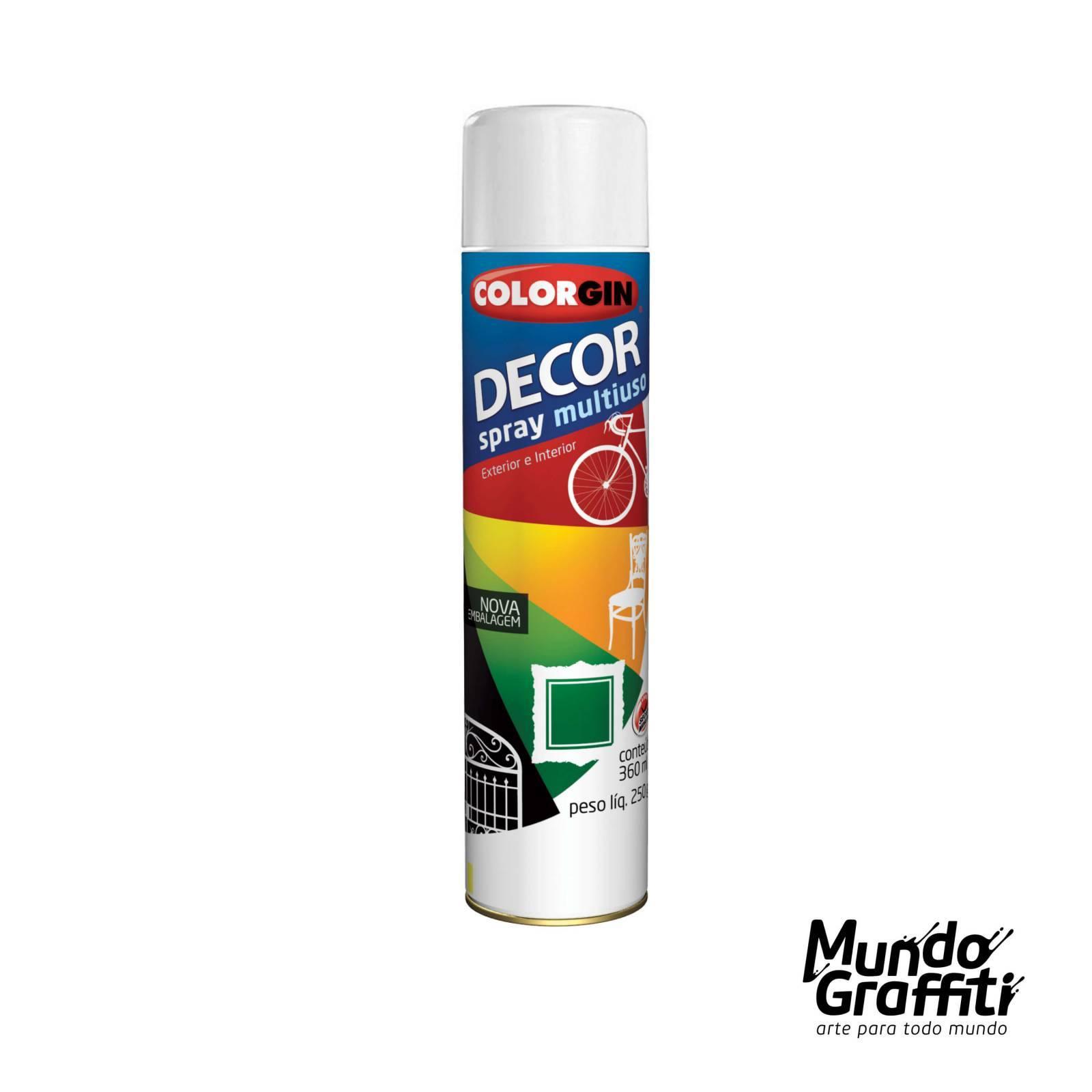 Tinta Spray Colorgin Decor 8641 Branco Brilhante 360ml - Mundo Graffiti
