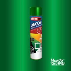 Tinta Spray Colorgin Decor 8741 Verde Amazonas Met. 360ml