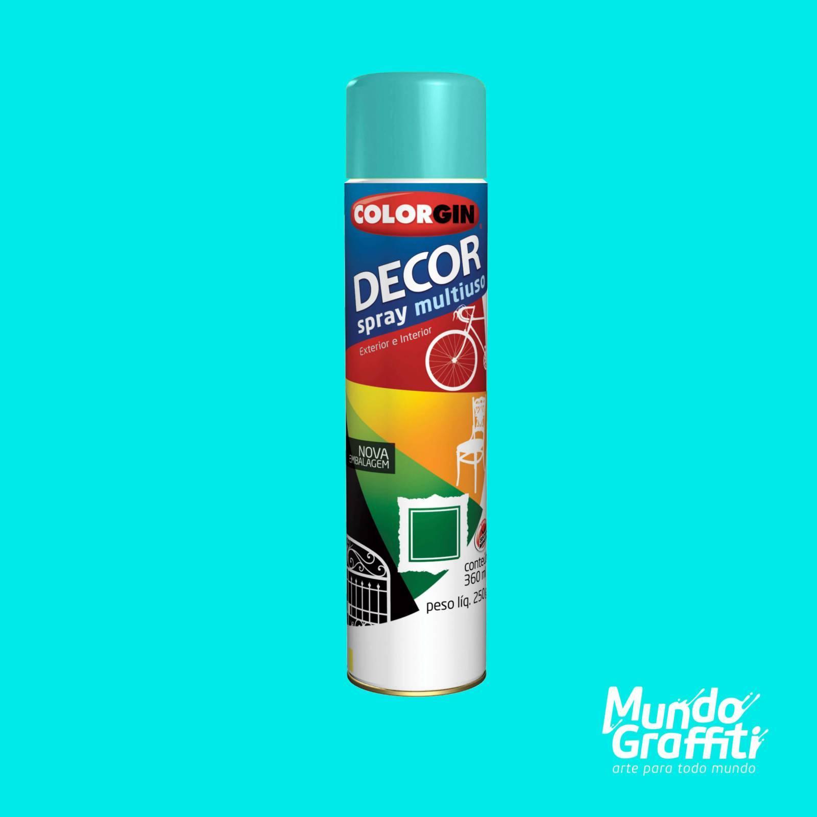 Tinta Spray Colorgin Decor 8631 Azul Céu Brilhante 360ml - Mundo Graffiti