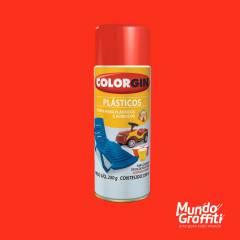 Tinta Spray Colorgin p/ Plasticos 1504 Vermelho 350ml