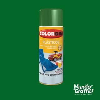Tinta Spray Colorgin p/ Plasticos 1508 Verde Natureza 350ml