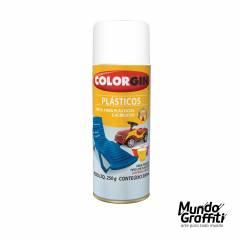 Tinta Spray Colorgin p/ Plasticos 1520 Branco Fosco 350ml