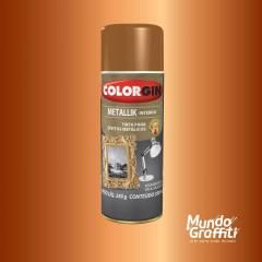 Tinta Spray Colorgin Metallik 054 Cobre 350ml