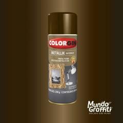 Tinta Spray Colorgin Metallik 055 Bronze 350ml
