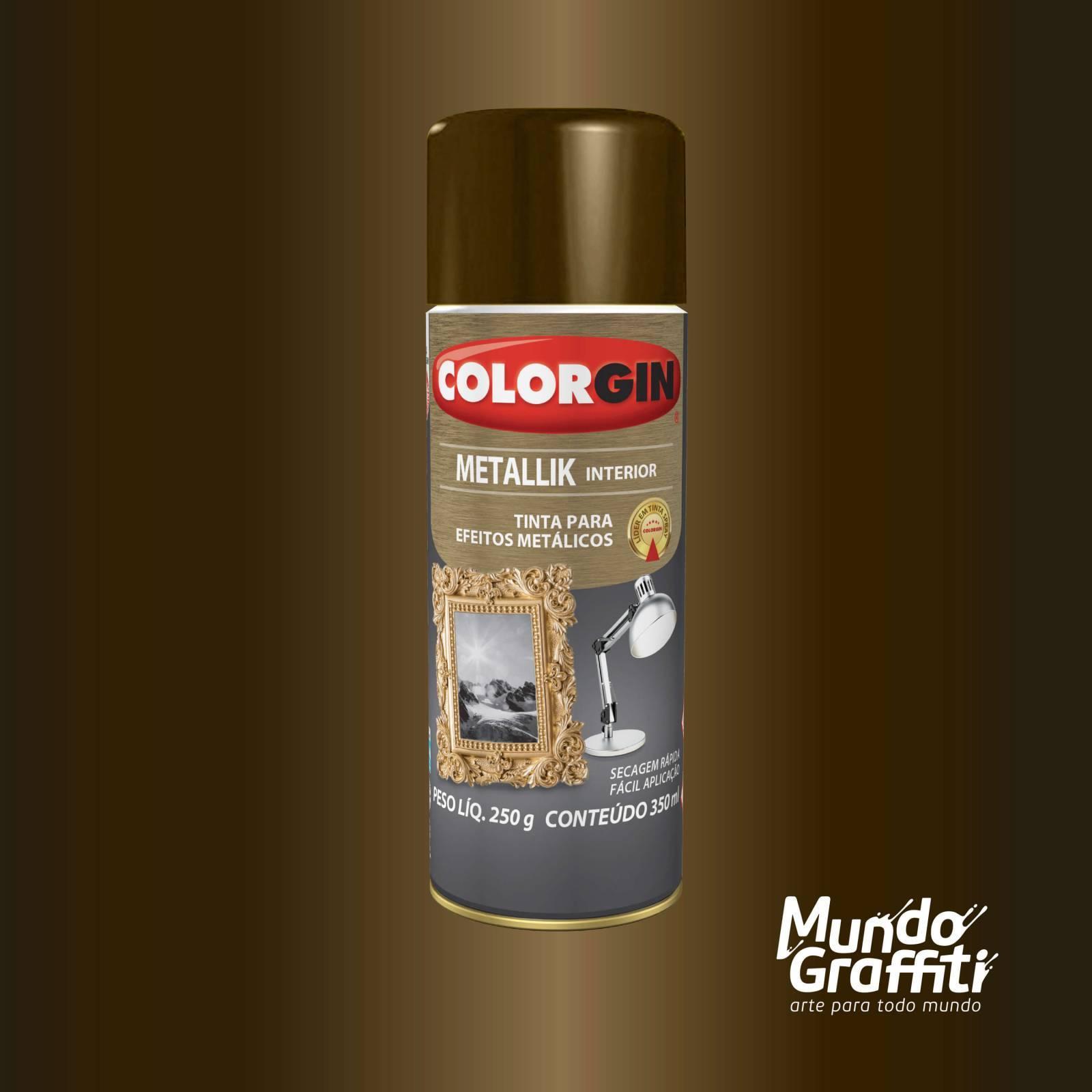 Tinta Spray Colorgin Metallik 055 Bronze 350ml - Mundo Graffiti