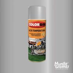 Tinta Spray Colorgin Alta Temperatura 5723 Alumínio 300ml