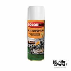 Tinta Spray Colorgin Alta Temperatura 5724 Branco Fosco. 300ml