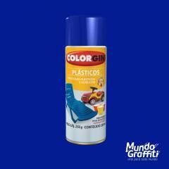 Tinta Spray Colorgin p/ Plasticos 1507 Azul Oceano 350ml