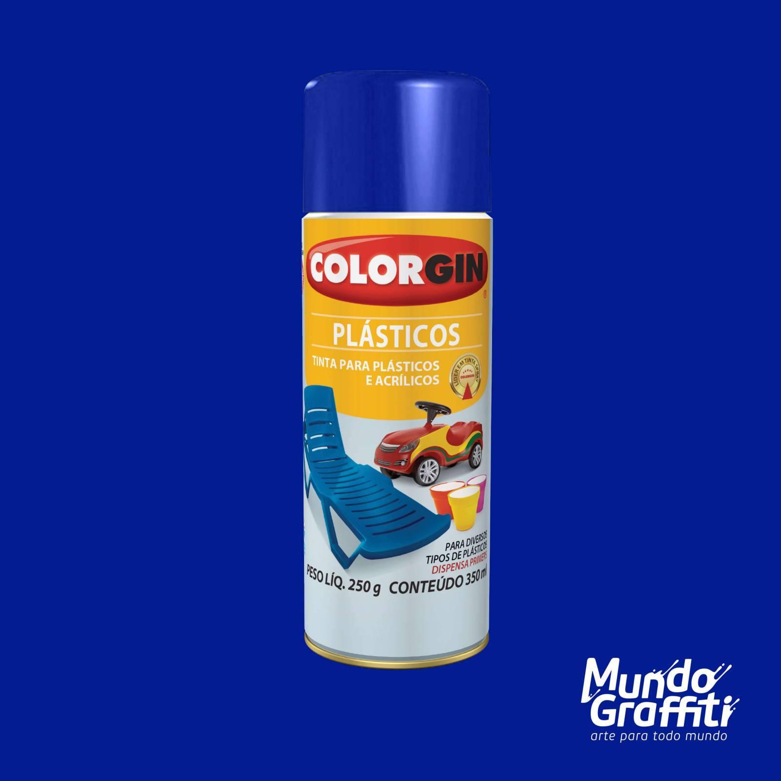 Tinta Spray Colorgin p/ Plasticos 1507 Azul Oceano 350ml - Mundo Graffiti