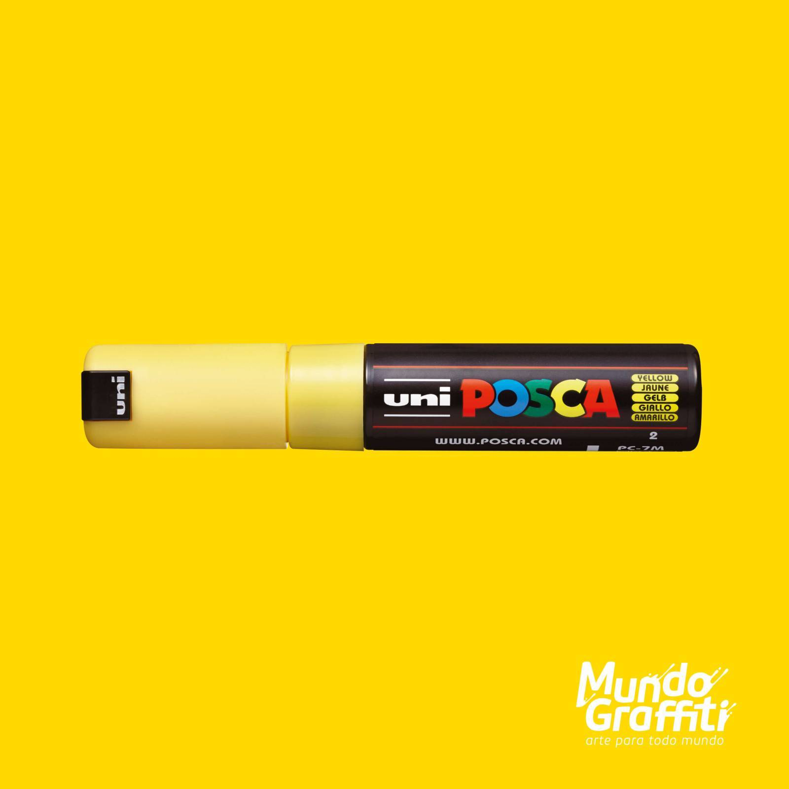Caneta Posca 7M Amarelo - Mundo Graffiti