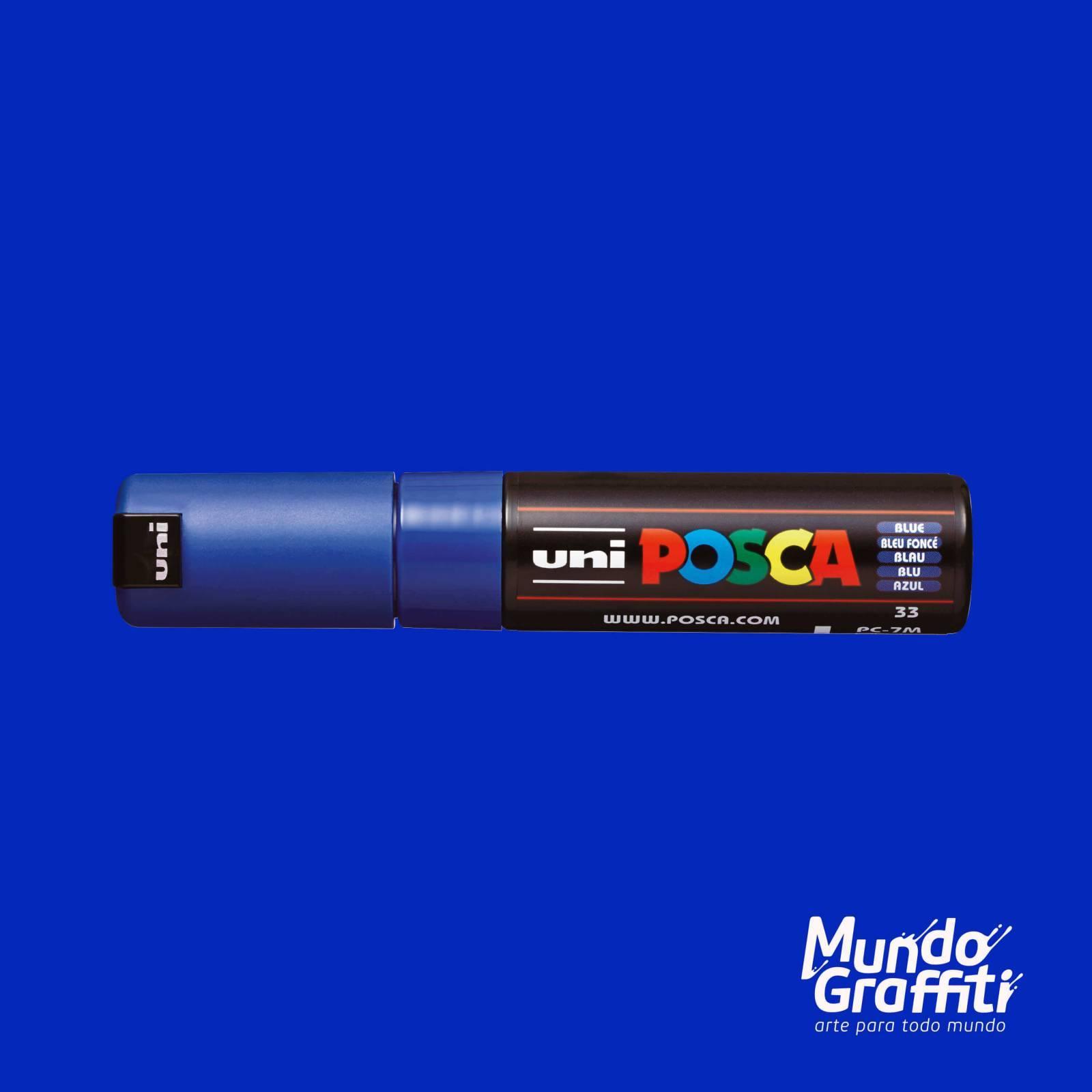 Caneta Posca 7M Azul - Mundo Graffiti