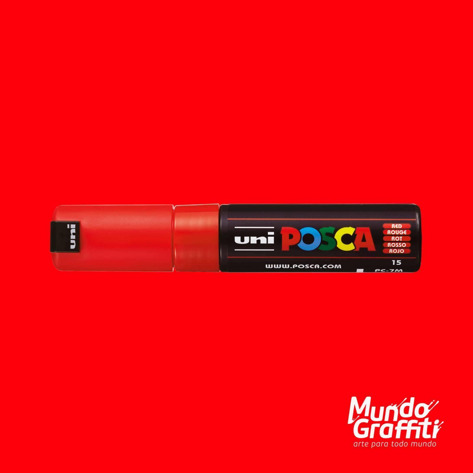 Caneta Posca 7M Vermelho - Mundo Graffiti