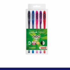 Kit Caneta Signo Gel Neo c/ 5 Cores 0,7mm